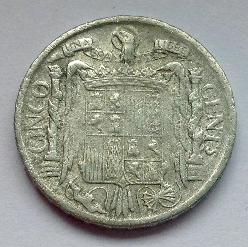 5 céntimos 1940 Variante Cero Roto - Estado Español Image
