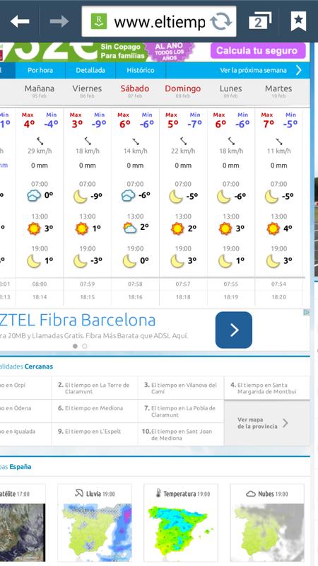 prevision de tiempo para viernes :( 24pdopl