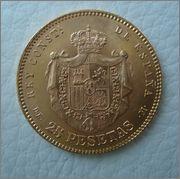 25 Ptas.1878*78 AlfonsoXII Image