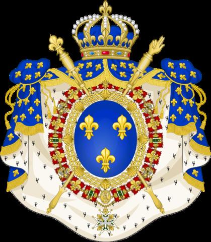 5 Francos de Carlos X. 1830. París (variante leyenda canto en relieve) 523px_Coat_of_Arms_of_the_Bourbon_Restoration_1