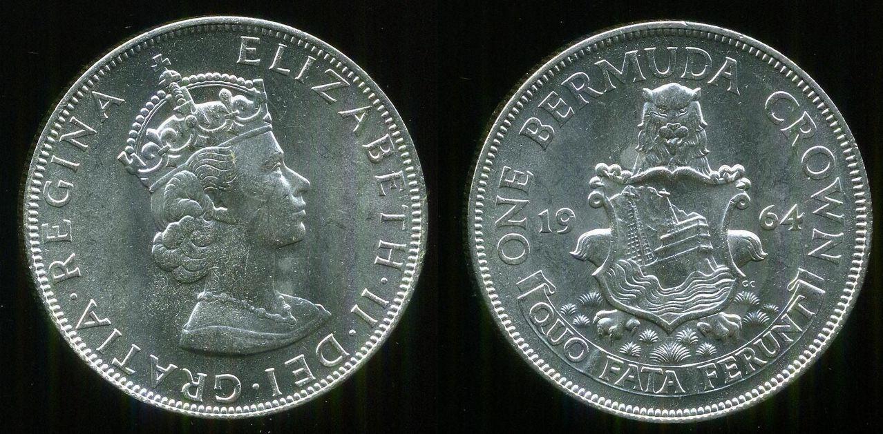 1 Corona de Elisabeth II. 1964. Bermudas 0_0_corona_bermudas_1964