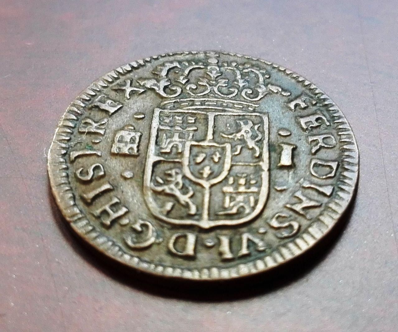 1 maravedí 1747 Segovia, Fernando VI 1_maravedis_1747_4
