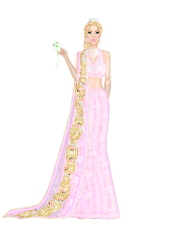 Disney Princesses as Indian Brides--- Rapunzel Let_Down_Your_Hair