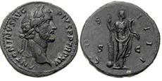 Sestercio de Antonino Pío. COS IIII S C. Fortuna. Ceca Roma.  Sin_t_tulo