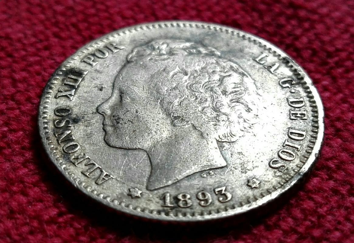 1 peseta 1893. Alfonso XIII IMG_20170325_151843