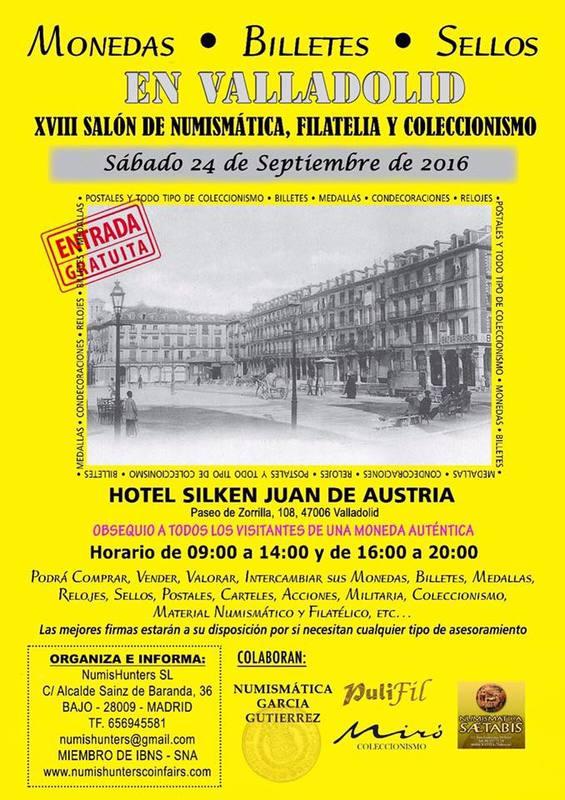 Convención numismática Sábado 24 de Septiembre Valladolid   Convvldsept16