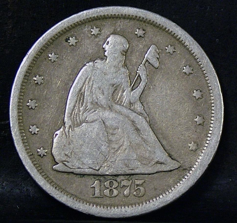 Tipo de moneda Estados Unidos 1875a