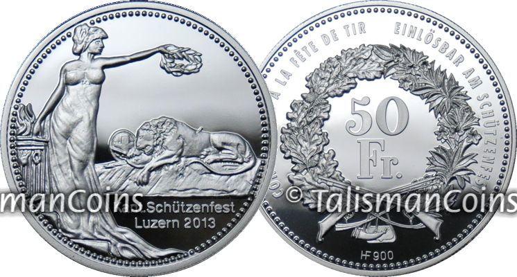 El león herido de la montaña Switzerland_2013_Shooting_Thaler_Silver