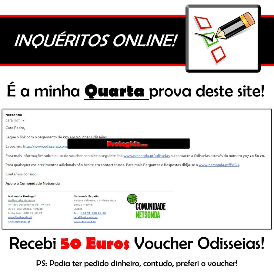 Oportunidade [Provado] Netsonda = Inquéritos online em troca de Dinheiro ou Prémios!   - Última prova de 40 euros! - Página 17 Netsonda