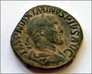 Sestercio de Maximino I. PROVIDENTIA AVG - S C. Ceca Roma. Maximo_1_JPG