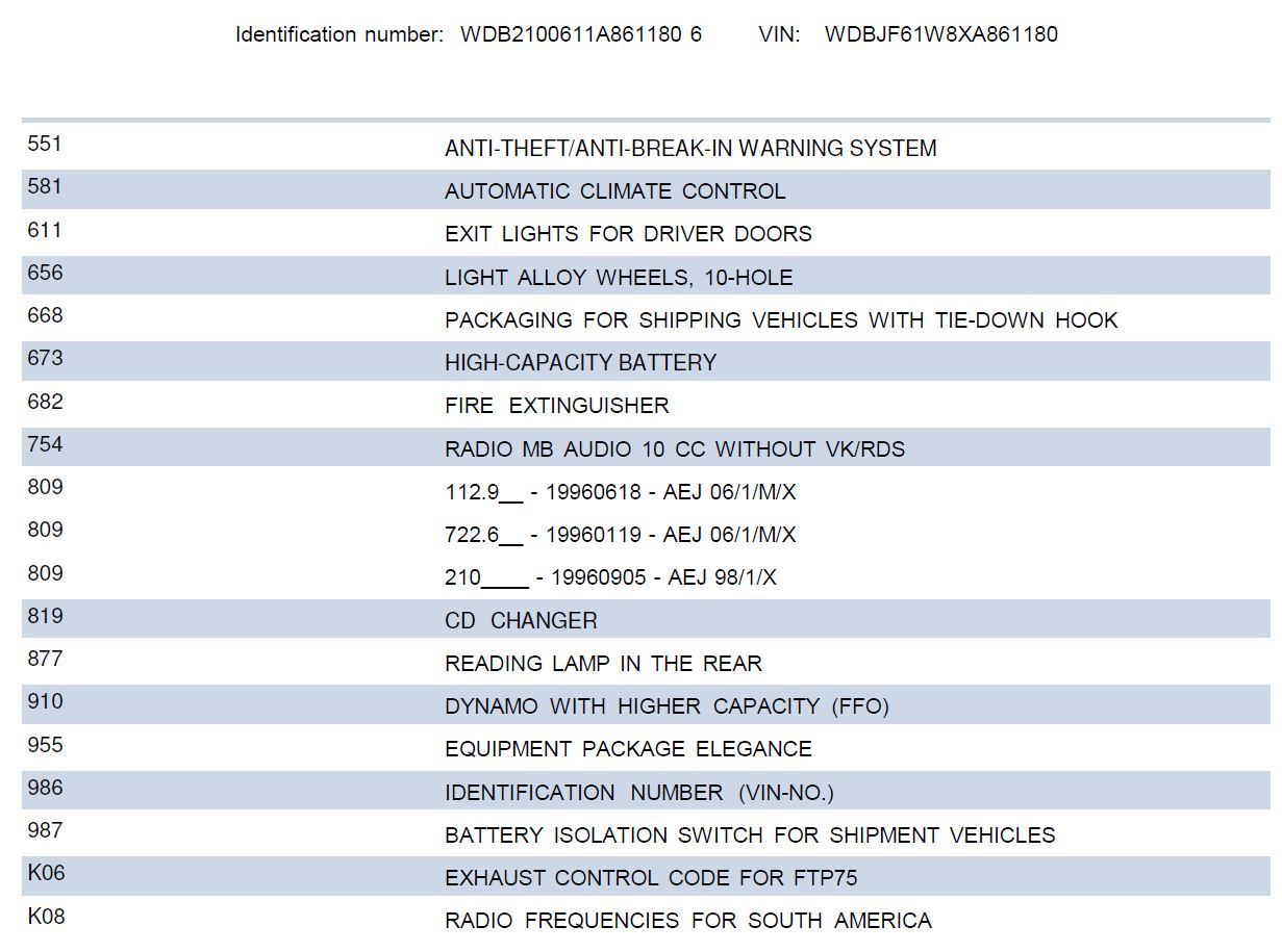 W210 - E240 Elegance 1999 - R$ 42.000,00 (VENDIDA) Datacard3