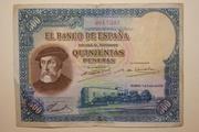Estadísticas e Historia - 500 Pesetas 1935 (Hernán Cortés) IIRep_9