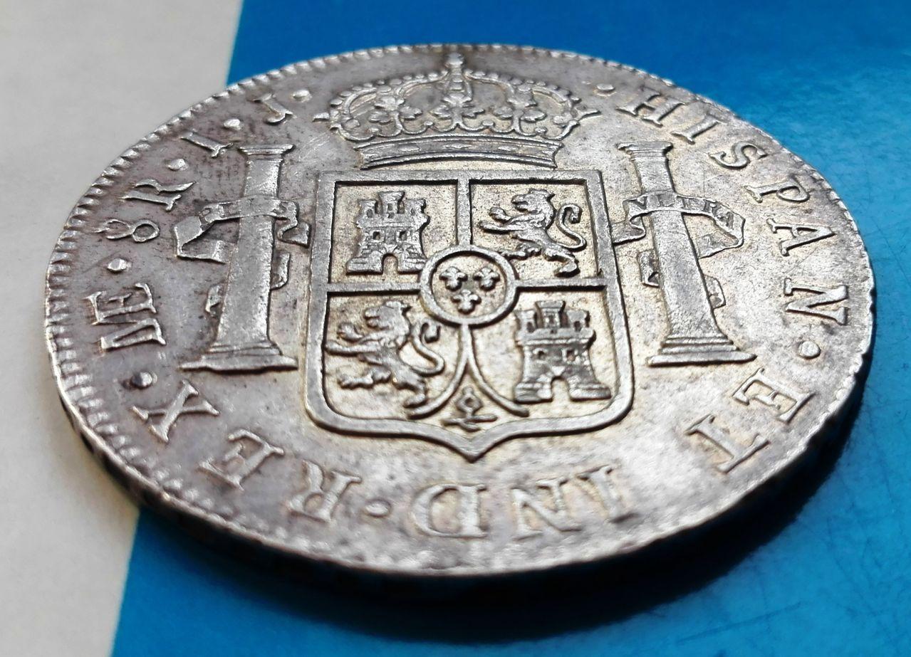 8 reales 1790 Carlos IV, Lima 8_reales_1790_lima_5
