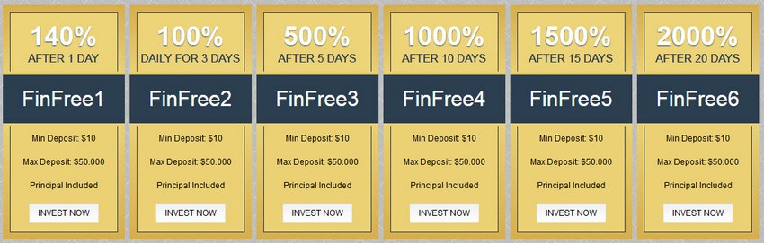 Financial Freedom Online - finfree.online Plans