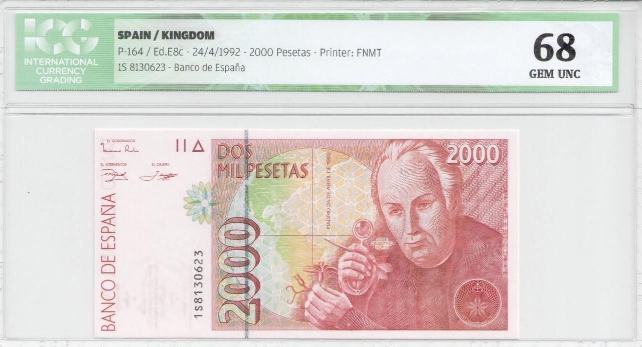 Colección de billetes españoles, sin serie o serie A de Sefcor - Página 2 2000_del_92_anverso