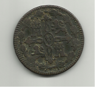 8 maravedis Fernando VII 1815 Jubia 8_maravedis_1815_fernado_VII_jubia_rever