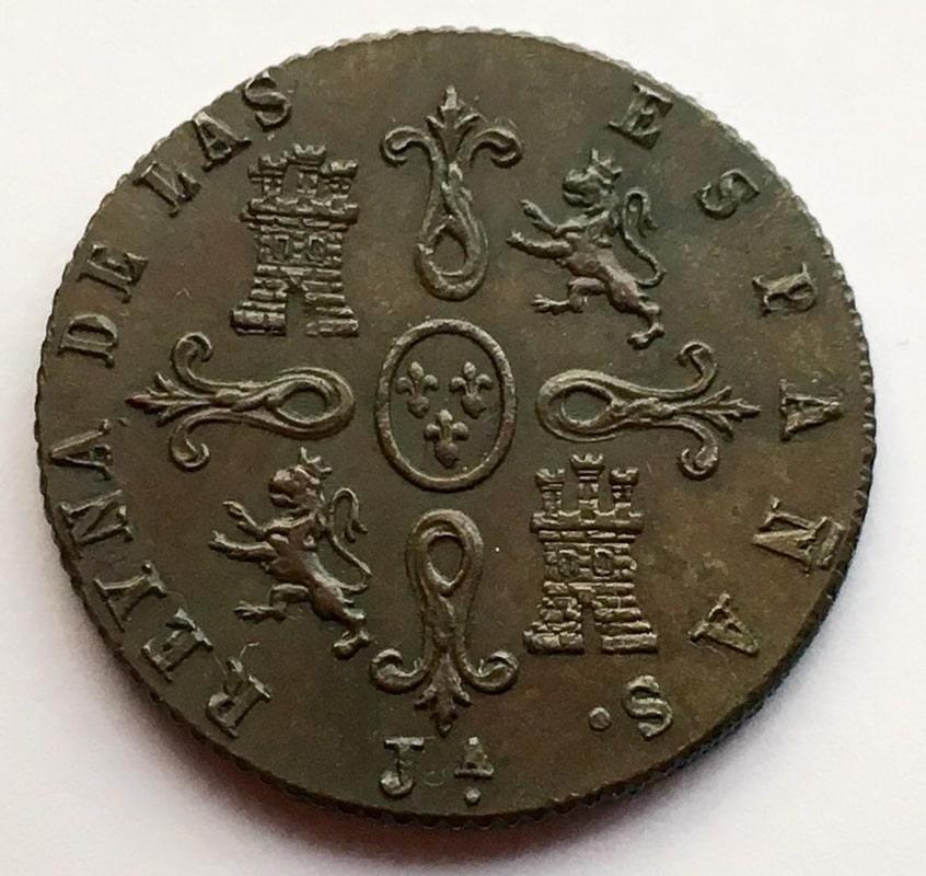 4 maravedís 1847. Isabel II. Jubia IMG_0380