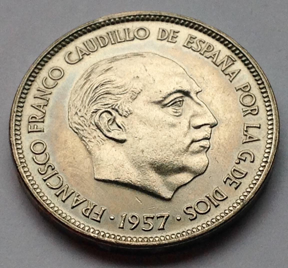 25 pesetas 1957 (*71) Estado Español Image