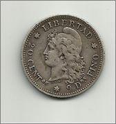 Parecidos Razonables 20_centavos_peso_1883_argentina_anver