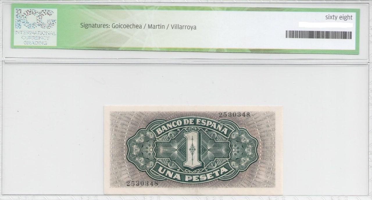 Colección de billetes españoles, sin serie o serie A de Sefcor 40_reverso