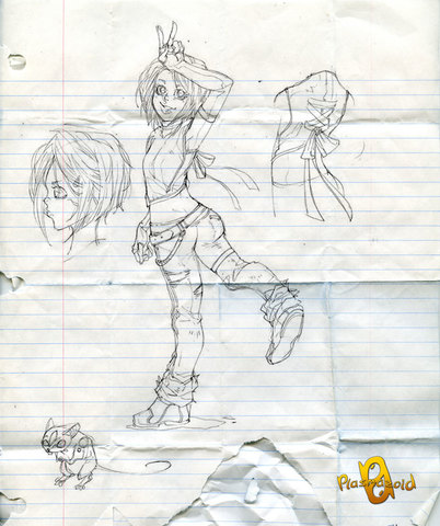 Plasmazoid - Webcomic - Estudo de Personagens, Rascunhos ... Mila_New_Plasmazoid