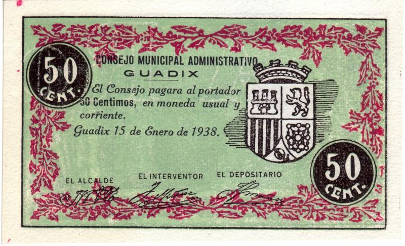 50 Céntimos Guadix. 1838 - 1938 (Primera guerra Carlista) Guadix2