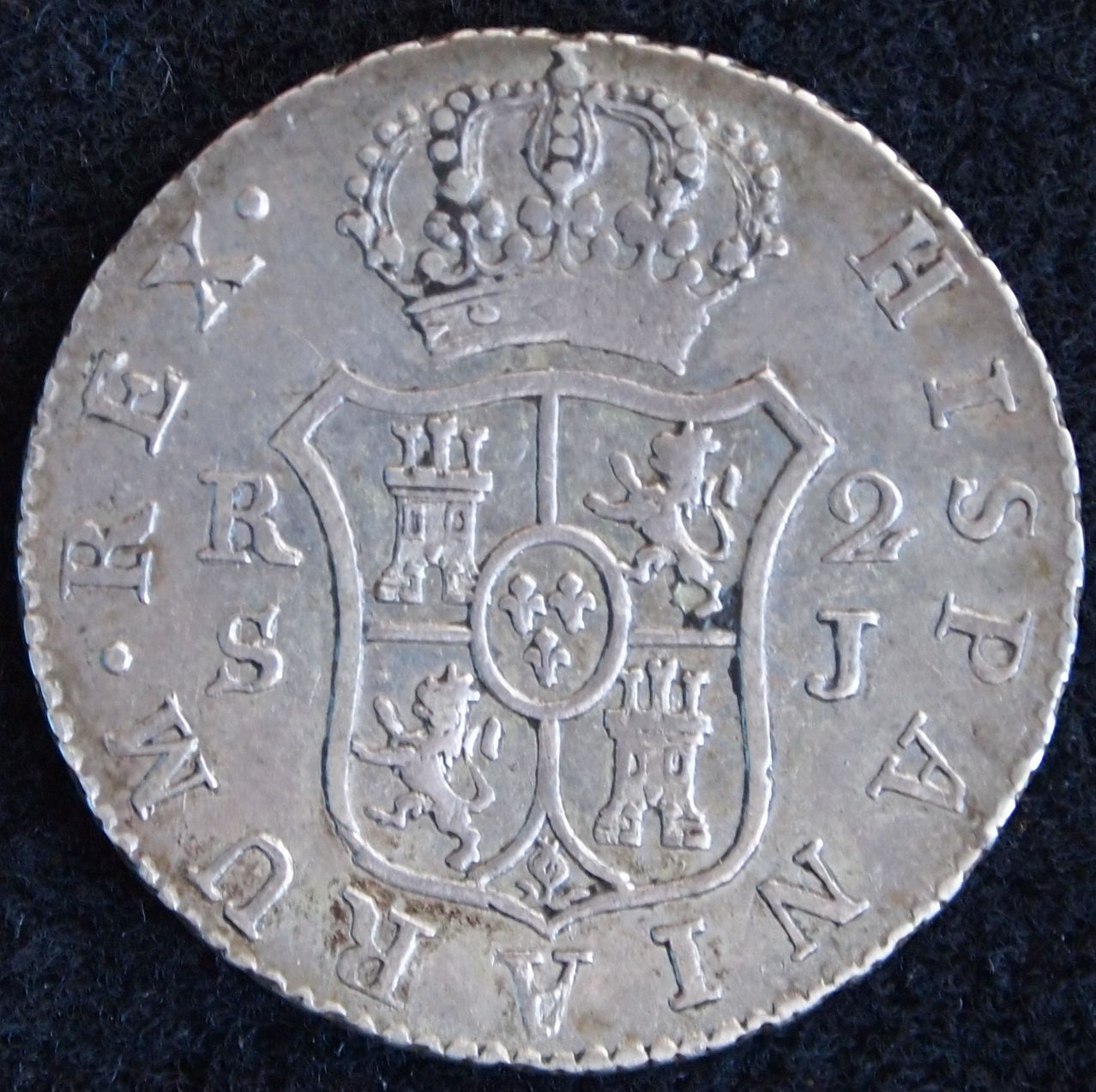 2 reales fernando VII 1824 sevilla 2