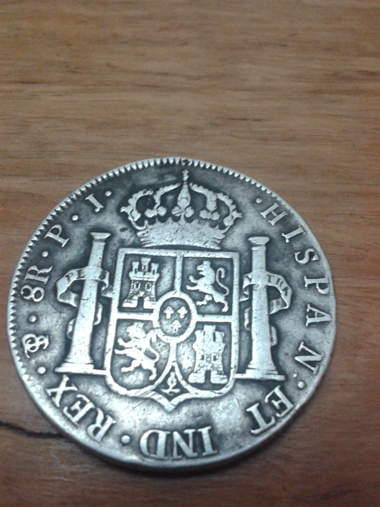8 reales 1805 Carlos IIII Potosí. 20140611_000851