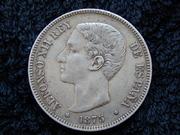 5 pesetas 1875 D.E.  M.   18* 75* DSCN2359