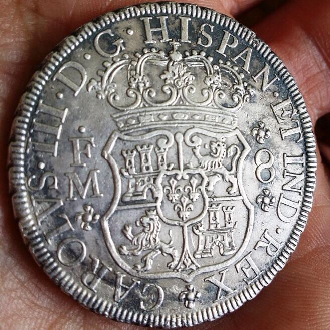 8 REALES COLUMNARIOS - CARLOS III - MÉXICO - 1771 Image