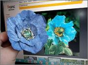 Скрапбукинг. Голубой мак, карандашница или декорваза для сухоцветов. 1_DSCF1955