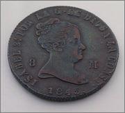 8 MARAVEDIS 1845 DE ISABEL II. JUBIA. DEDICADA A JAVI Image