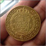 8 Escudos 1790 Carlos IV        ( busto de Carlos III ) NR Image