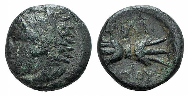 AE10 de Filipo II de Macedonia. ΦΙΛΙ / ΠΠΟΥ 146_26_D