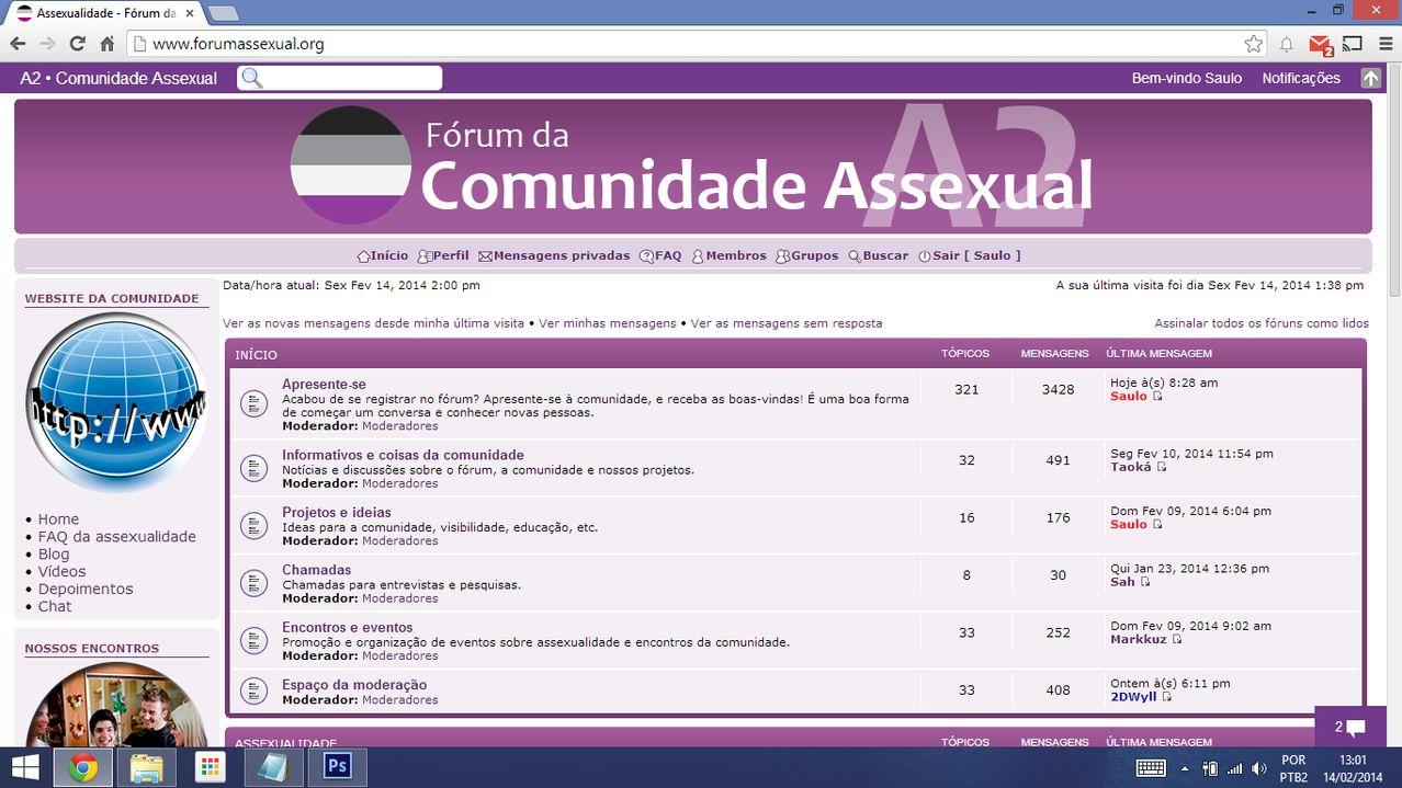 História da Comunidade Assexual Forum