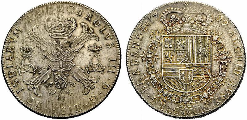 Patagón de 1705. Felipe V. Amberes de Brabante. 435414_1