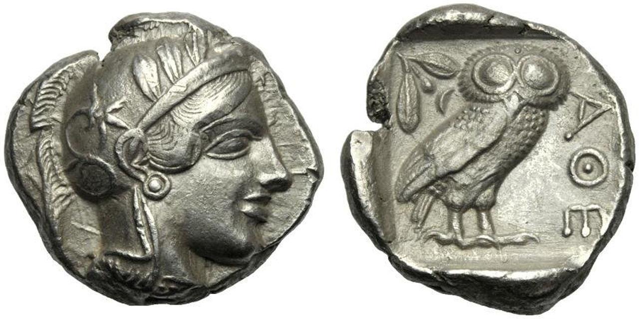 Tetradracma atico. Atenas. 449-413 A.C. Mi tetradracma de Atenas. 250_1