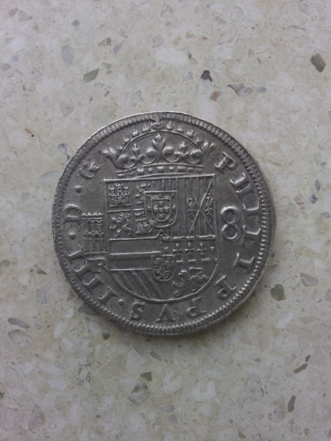 8 reales 1633/17. Felipe IV. Segovia. Moneda