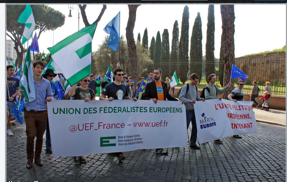 """Roma 25 marzo 2017 p. v.: """"Marcia per l'Europa"""" UEF_France"""