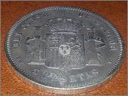 5 pesetas 1893.*18-93* Alfonso XIII - P.G.V.- 20131106_185223