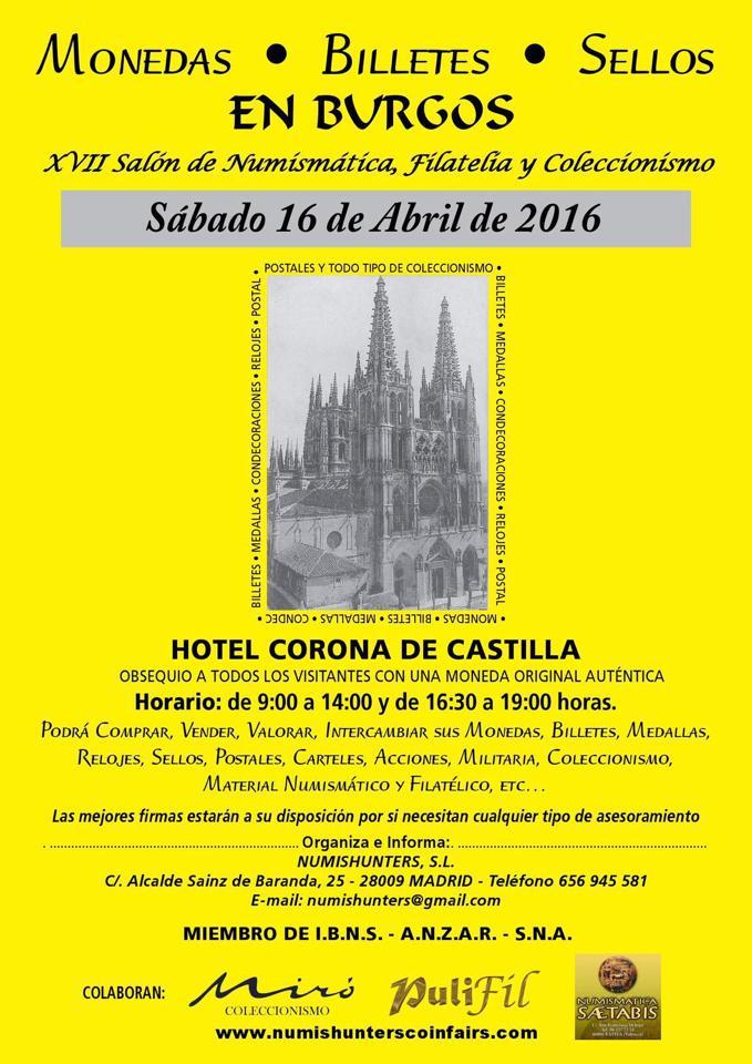 Convención Numismática Burgos, Sábado 16 de Abril 2016 1625791_981717268575012_2511357522816237931_n