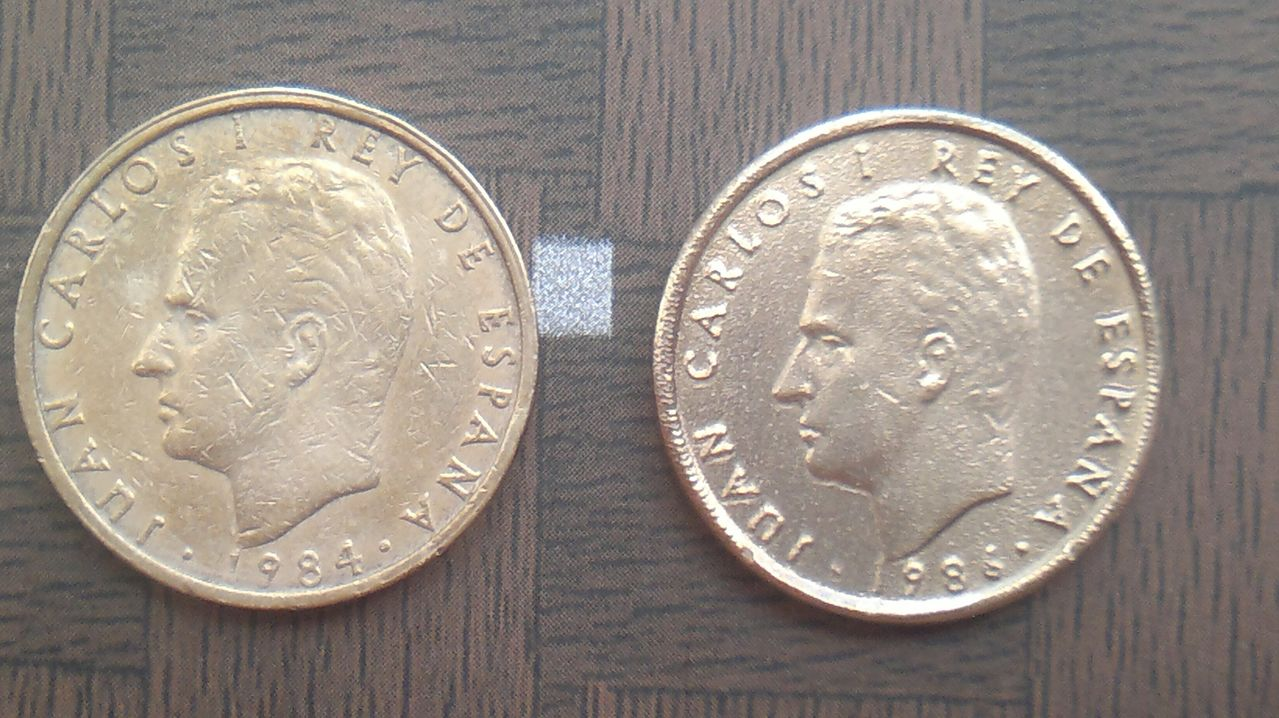 100 pesetas 1986 ¿ cuño muy flojo , color raro y canto casi liso ? 2014_08_01_4297