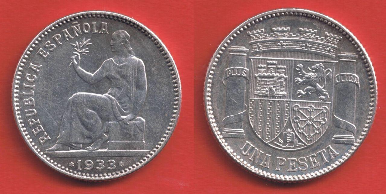 1 peseta 1933. II República Española. Madrid 1_peseta_1933_II_Rep_blica