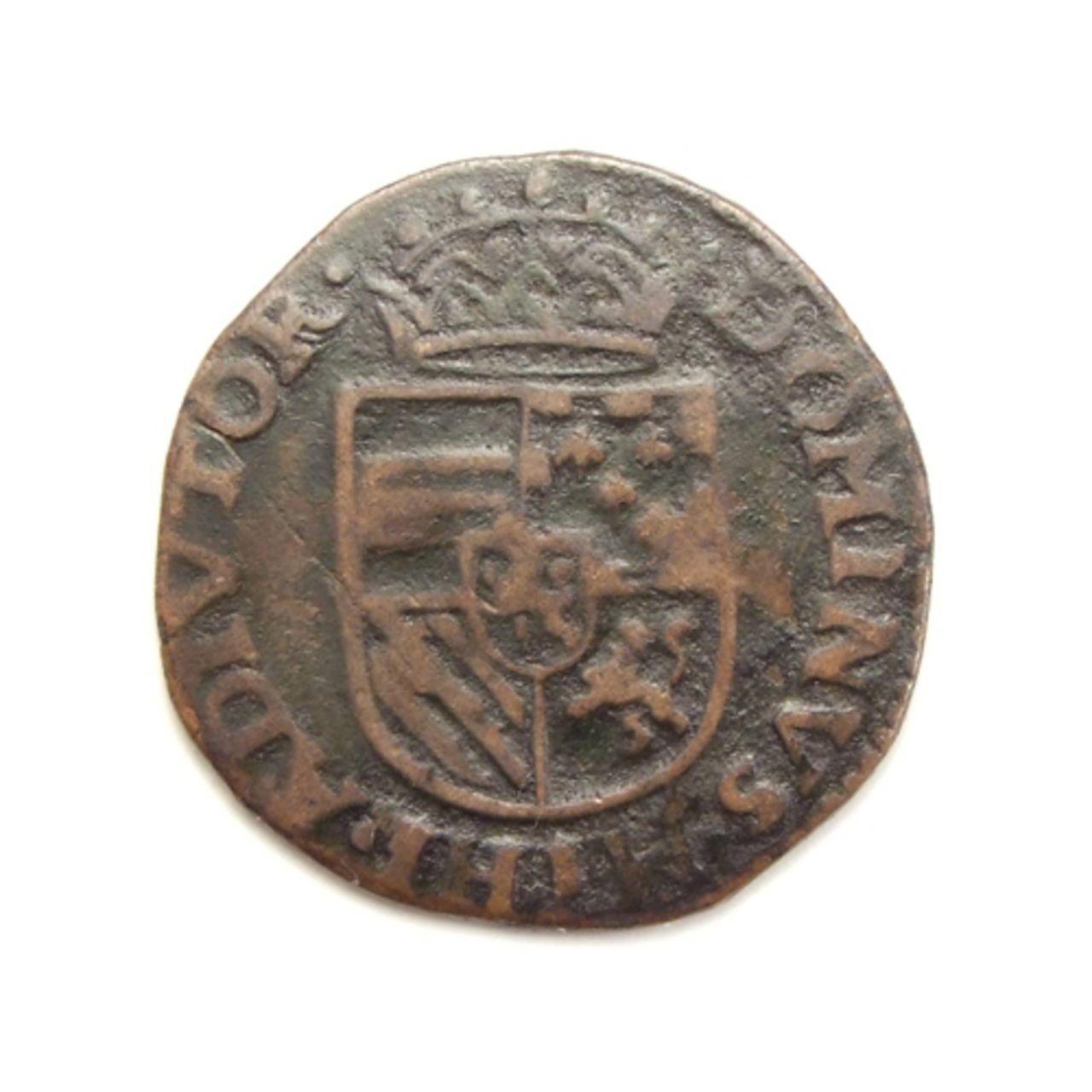 Hertogelijke Oord o Liard 1582. Felipe II. Doornik (Tournai). Spaanse_nederlanden_doornik_oord_1582_5034_1