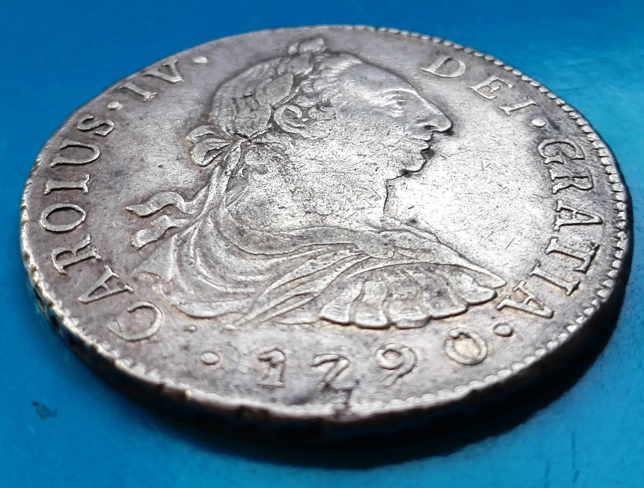 8 reales 1790 Carlos IV, Lima 8_reales_1790_lima_3