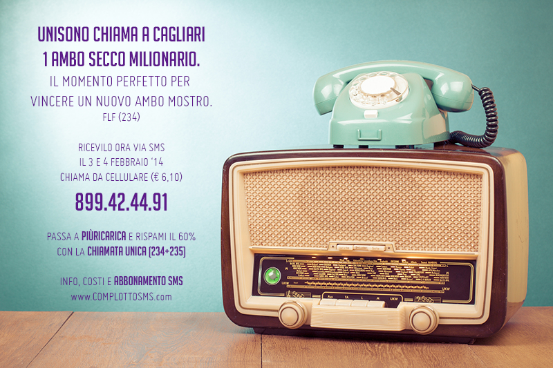 FABRIZIO 3-4/febbraio/2014: 90 CON LE SPALLE AL MURO; UNISONO 1 SOLO AMBO MILIONARIO. Sms_234