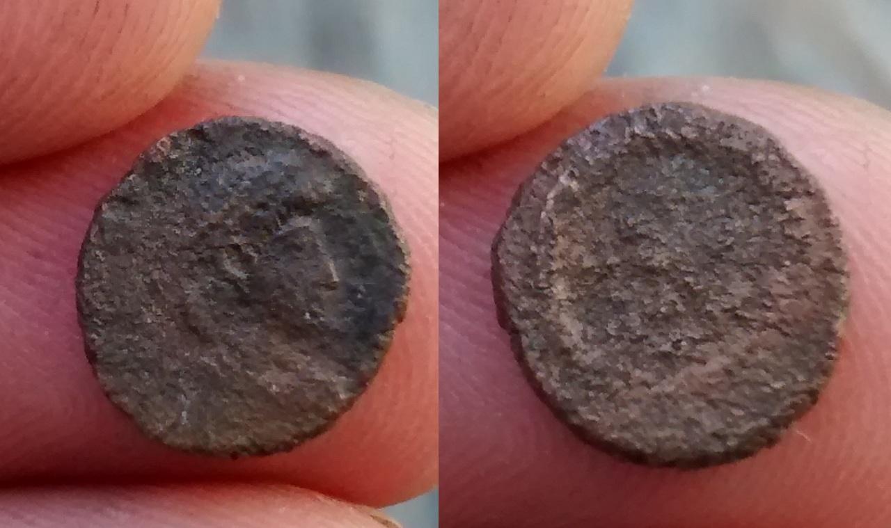 AE4 votivo de Constante o Constancio II Romana