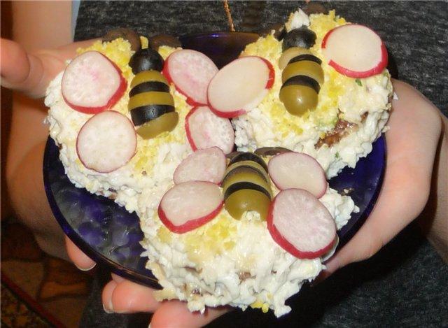 Печеночные пирожные «Пчелки»  7dc9e511d19d
