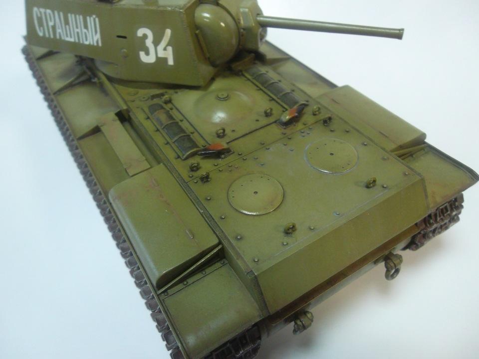 КВ-1 начало 1942 г., 1/35, (ВЭ №35088 + №35084). Acd3089e0441