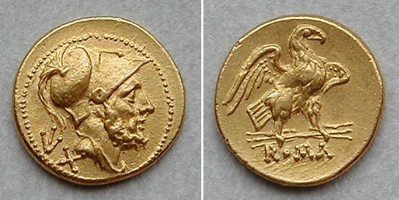 Denominación de monedas en la antigua Roma: La República. 0_60_sestercios_oro
